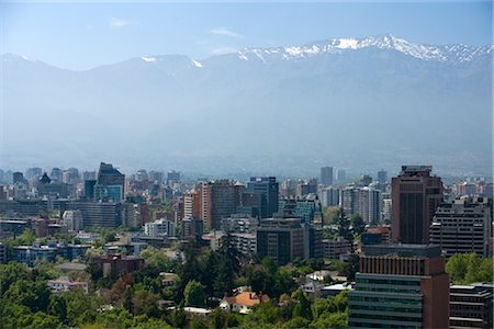 Overview of City, Santiago, Chile Stock Photo - Rights-Managed, Code: 700-02594202