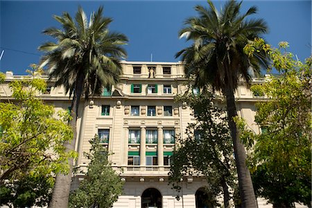 Exterior of Building and Palm Trees,  Santiago, Chile Stock Photo - Rights-Managed, Code: 700-02594225