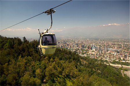 Funicular over Santiago, Chile Stock Photo - Rights-Managed, Code: 700-02594234
