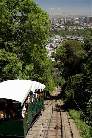 Funicular, Cerro San Cristobal, Santiago, Chile Stock Photo - Rights-Managed, Code: 700-02594233
