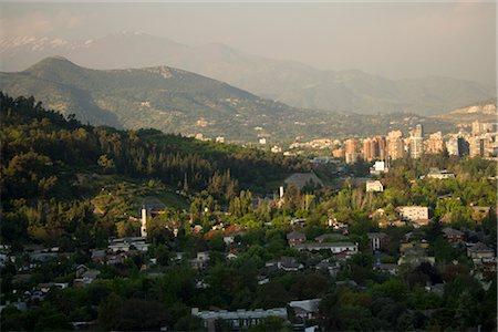 Overview of Santiago, Chile Stock Photo - Rights-Managed, Code: 700-02594245
