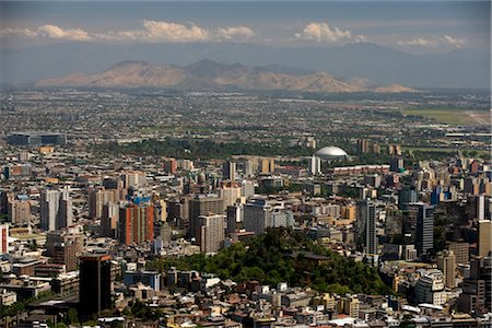 Overview of Santiago, Chile Stock Photo - Rights-Managed, Code: 700-02594254