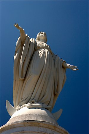 Statue of the Virgin, Cerro San Cristobal, Santiago, Chile Stock Photo - Rights-Managed, Code: 700-02594255