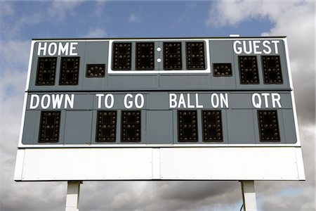 scoring - Football Scoreboard Stock Photo - Rights-Managed, Code: 700-02593631