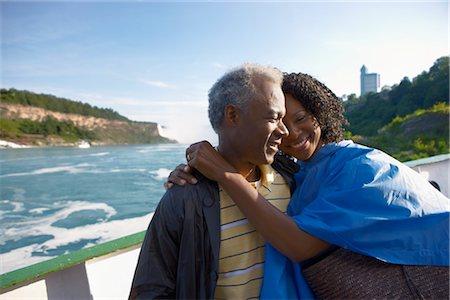 Couple on Boat at Niagara Falls, Ontario, Canada Stock Photo - Rights-Managed, Code: 700-02593644
