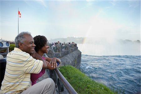 Couple at Niagara Falls, Ontario, Canada Stock Photo - Rights-Managed, Code: 700-02593656