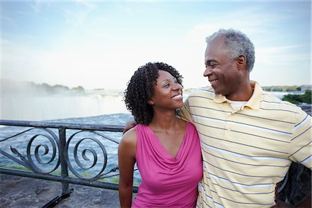 Couple at Niagara Falls, Ontario, Canada Stock Photo - Rights-Managed, Code: 700-02593658