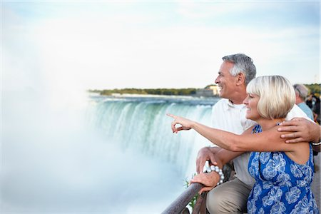 Couple at Niagara Falls, Ontario, Canada Stock Photo - Rights-Managed, Code: 700-02593659