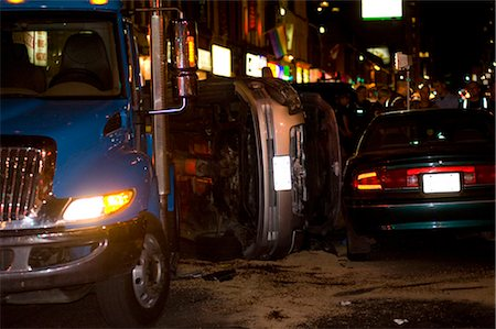 dangerous accident - Car Accident, Yonge Street, Toronto, Ontario, Canada Stock Photo - Rights-Managed, Code: 700-02593693