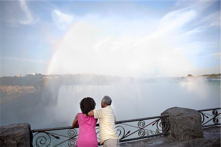 Couple at Niagara Falls, Ontario, Canada Stock Photo - Rights-Managed, Code: 700-02637178