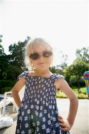 Portrait of Girl with Sunglasses Stock Photo - Rights-Managed, Code: 700-02637300