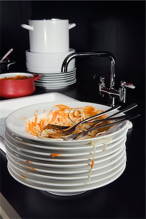 Dirty Plates Stock Photo - Rights-Managed, Code: 700-02637500