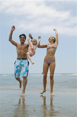Family Having Fun on the Beach Stock Photo - Rights-Managed, Code: 700-02638160
