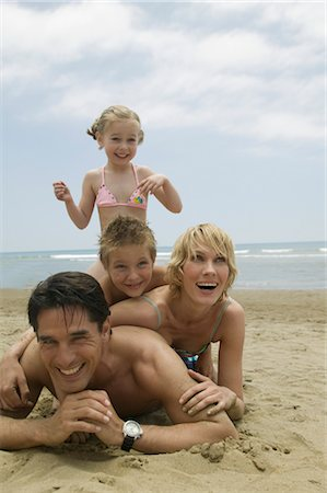 Family Having Fun on the Beach Stock Photo - Rights-Managed, Code: 700-02638162
