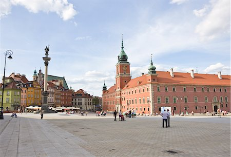 Royal Castle and King Sigismund's Column, Castle Square, Old Town, Warsaw, Poland Stock Photo - Rights-Managed, Code: 700-02633770