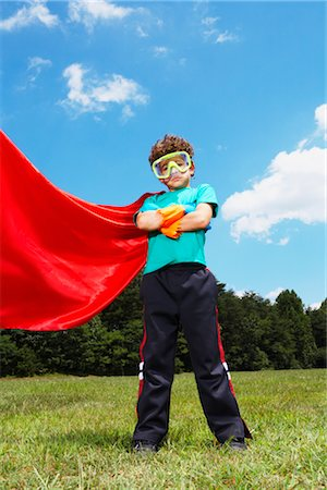Boy Dressed Up as Super Hero Stock Photo - Rights-Managed, Code: 700-02659925