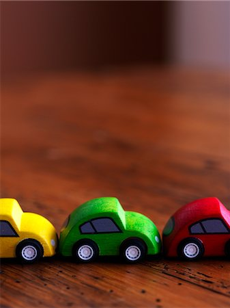 dangerous accident - Wooden Cars in Row Stock Photo - Rights-Managed, Code: 700-02669173