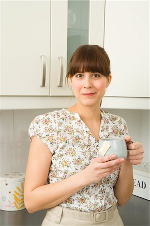 Woman Drinking Tea Stock Photo - Rights-Managed, Code: 700-02670022