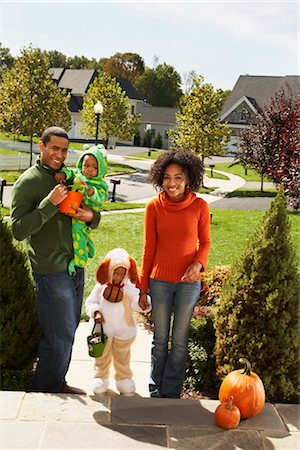 Family Trick-or-Treating Together Stock Photo - Rights-Managed, Code: 700-02670118