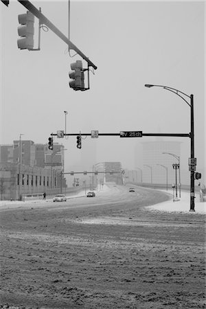 Slush-Covered Intersection, Cleveland, Ohio, USA Stock Photo - Rights-Managed, Code: 700-02670183