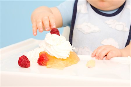 Baby Playing with Food Stock Photo - Rights-Managed, Code: 700-02670488