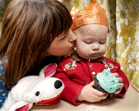 people kissing little boys - Baby Boy's First Birthday Stock Photo - Rights-Managed, Code: 700-02670532