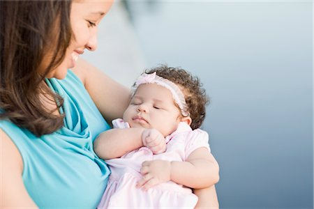 Portrait of Mother with Baby Daughter Stock Photo - Rights-Managed, Code: 700-02670795
