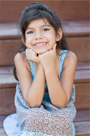 Portrait of Girl on Steps Stock Photo - Rights-Managed, Code: 700-02670801