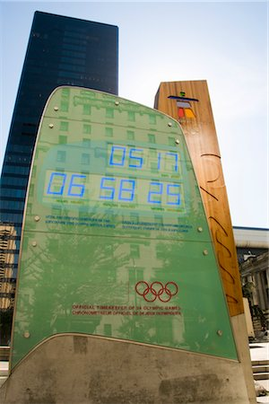 2010 Olympics Countdown Board, Vancouver, BC, Canada Stock Photo - Rights-Managed, Code: 700-02671498