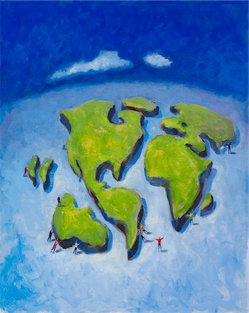 Illustration of Continental Drift Stock Photo - Rights-Managed, Code: 700-02671559