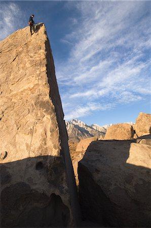 rock climber - Man Climbing the Shark's Fin, Alabama Hills, Lone Pine, Inyo County, Owens Valley, Sierra Nevada Range, California, USA Stock Photo - Rights-Managed, Code: 700-02686518