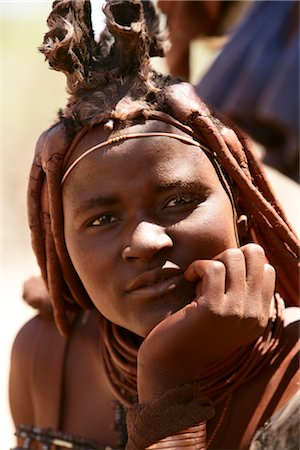 Portrait of Himba Woman, Opuwo, Namibia Stock Photo - Rights-Managed, Code: 700-02694004