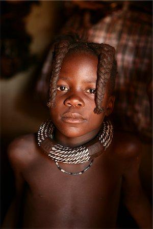 Portrait of Himba Girl, Opuwo, Namibia Stock Photo - Rights-Managed, Code: 700-02694001