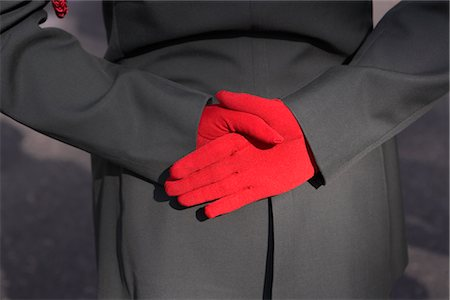 david zimmerman - Person in Dress Uniform Wearing Red Gloves Stock Photo - Rights-Managed, Code: 700-02694067