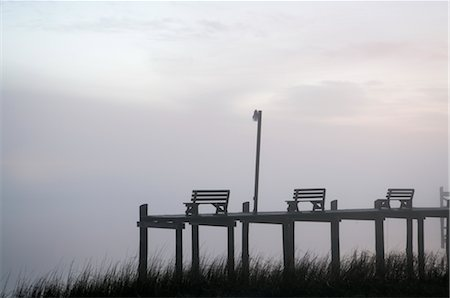 david zimmerman - Benches on Pier at Dusk, Chincoteague, Virginia, USA Stock Photo - Rights-Managed, Code: 700-02694074