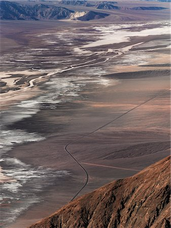 david zimmerman - Aerial View of Road Through Desert, Death Valley National Park, California, USA Stock Photo - Rights-Managed, Code: 700-02694070