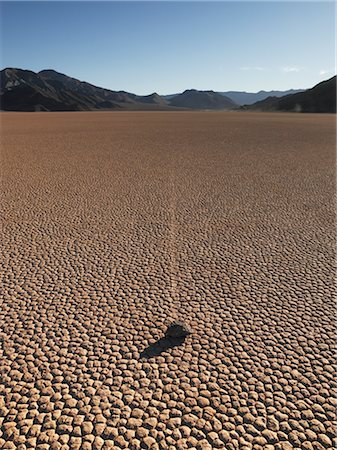 david zimmerman - Moving Rock, Death Valley, California, USA Stock Photo - Rights-Managed, Code: 700-02694071