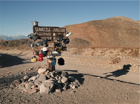 david zimmerman - Teakettle Junction Sign, Death Valley National Park, California, USA Stock Photo - Rights-Managed, Code: 700-02694087
