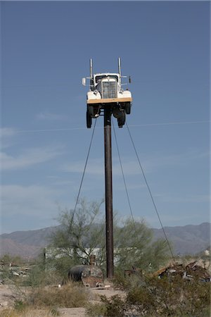 david zimmerman - Truck on Pole, Yucca, Arizona, USA Stock Photo - Rights-Managed, Code: 700-02694080