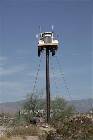 david zimmerman - Truck on Pole, Yucca, Arizona, USA Stock Photo - Rights-Managed, Code: 700-02694080