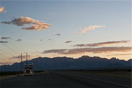 david zimmerman - Truck on Roadside at Dusk, Alamogordo, New Mexico, USA Stock Photo - Rights-Managed, Code: 700-02694082