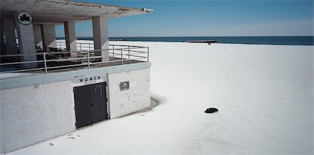 Beach Building and Woman's Change Room in Winter, Coney Island, New York, USA Stock Photo - Rights-Managed, Code: 700-02694094