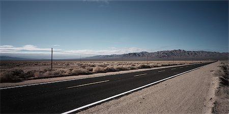 david zimmerman - Road Through Desert, Southern California, USA Stock Photo - Rights-Managed, Code: 700-02694097