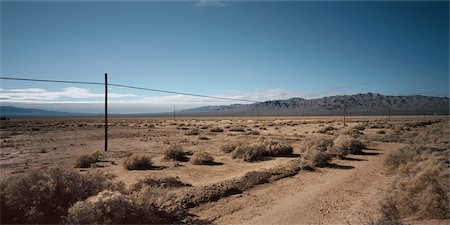 david zimmerman - Power Lines in the Desert, Southern California, USA Stock Photo - Rights-Managed, Code: 700-02694098
