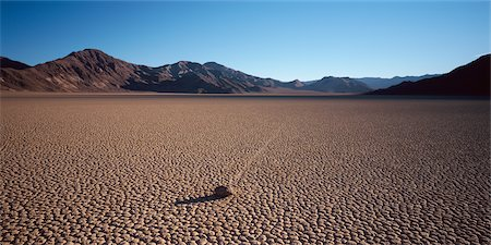 david zimmerman - Moving Rock, Death Valley National Park, California, USA Stock Photo - Rights-Managed, Code: 700-02694099
