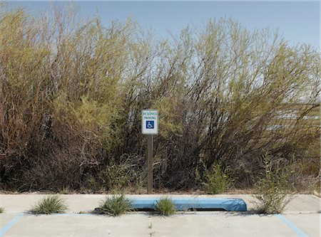 david zimmerman - Handicapped Parking Sign, New Mexico, USA Stock Photo - Rights-Managed, Code: 700-02694092