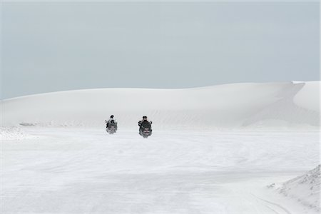 david zimmerman - Motorcyclists Riding Through Desert, White Sands National Monument, New Mexico, USA Stock Photo - Rights-Managed, Code: 700-02694093