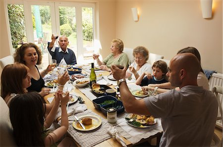 Family Having Lunch Stock Photo - Rights-Managed, Code: 700-02698326
