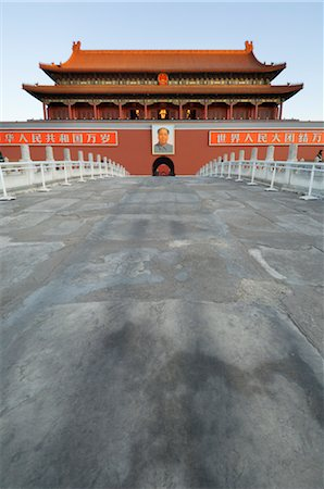 Gate of Heavenly Peace at Sunrise, Imperial Palace, Tiananmen Square, Forbidden City, Beijing, China Stock Photo - Rights-Managed, Code: 700-02698366