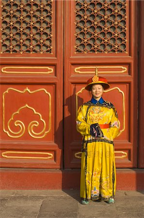 Woman Dressed in Traditional Clothing at the Gate of Heavenly Peace, Tiananmen Square, Forbidden City, Beijing, China Stock Photo - Rights-Managed, Code: 700-02698373